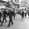 Guben. Festumzug zur 725-Jahrfeier 1960 in der Fr.-Engel-Straße