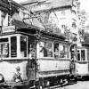 Guben: Geschmückte Straßenbahn auf ihrer letzten Fahrt 1938