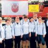 Hakenleitern im Hafen   Cottbuser und Lausitzer Feuerwehrteams in Rostock