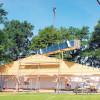 Neues peickwitzer Sportlerheim steht vor seinem Finale