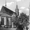 Cottbus: Oberkirchplatz und die Kirche um 1932