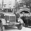 Guben: Einweihung der Kugelbrücke mit Culemeyer um 1949