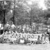 Spremberg: Sandburg vor dem Walderholungsheim