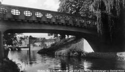 Altes Guben: Die Schützenhausbrücke wurde wieder aufgebaut