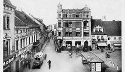 Hier hielt um 1935 die Stadtbuslinie