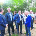 Erster Spatenstich für die Cottbuser Ostsee-Kaimauer