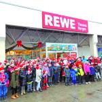 Großräschen: Hofweihnachtsmarkt mit Schnee