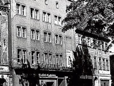 Bilder aus dem alten Cottbus: Ein Dachblick zur Wendischen Kirche