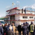 Neu Fahrzeughalle für Müschener Feuerwehr