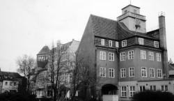 Bilder aus dem alten Senftenberg: Das Rathaus mit dem steilsten Dach