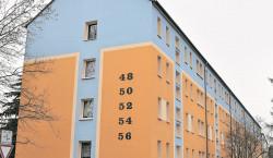 KWG renoviert Großräschener Fassade