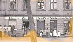 Bilder aus dem alten Cottbus: Wurst und Fleisch im Vorort Ströbitz