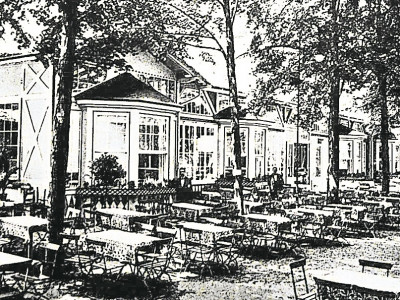 Alte Neißestadt Guben: Im Gartenlokal neben dem Theater