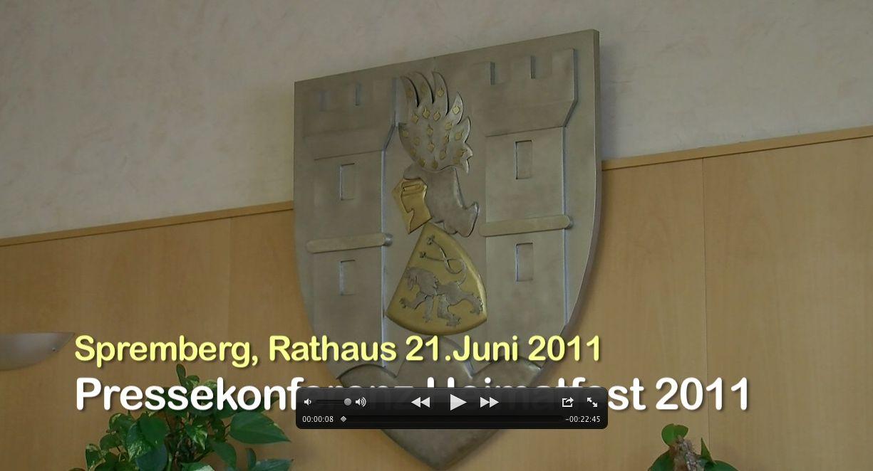 Pressekonferenz zum Heimatfest in Spremberg