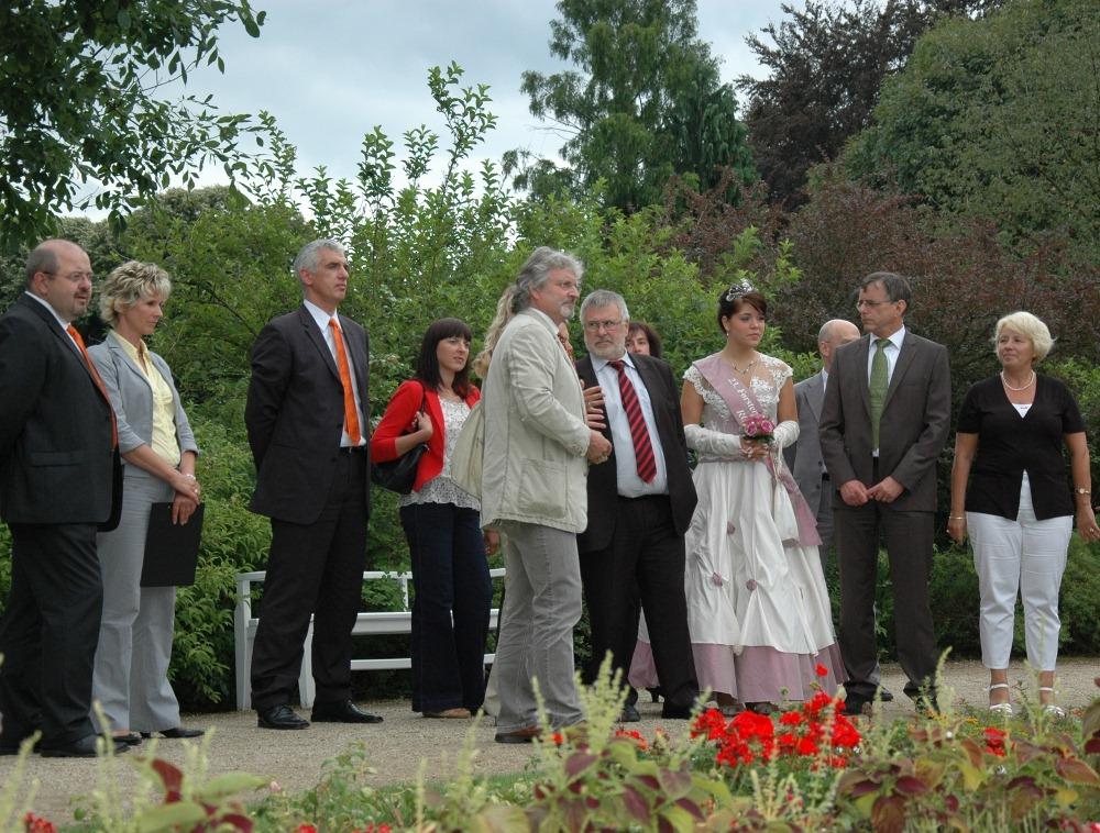 Forst: Brunnen für die Deutsche Rosenschau