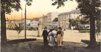 Cottbus: Die Herrschaften spazieren vom Wall zum Kaiser-Wilhelm-Platz