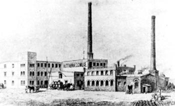 Guben: Fabrikanlagen von C. G. Wilke