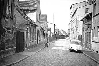 Cottbus: Petersilienstraße kurz vor Abriss ihrer linken Seite