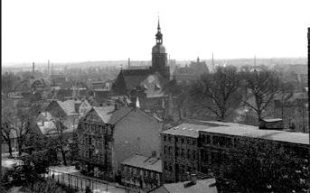 Spremberg: Blick über Spremberg auf die Georgenstraße