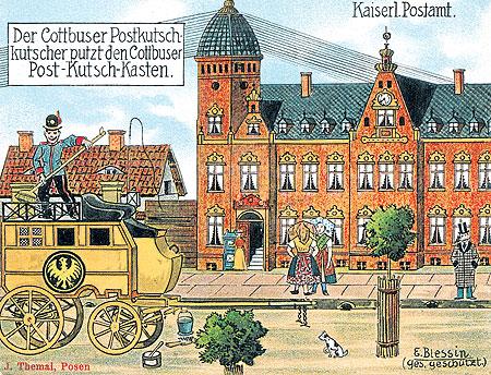 Cottbus: Das Kaiserliche Postamt am Berliner Platz