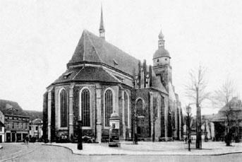 Cottbus: Gymnasium neben der Oberkirche