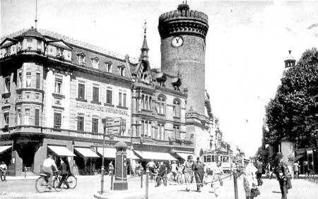 Cottbus: Der Königsplatz, ein Vorzeigeplatz Ende der Dreißiger