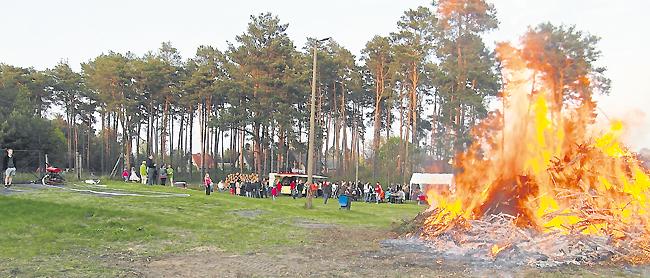 Osterfeuer brennen am Ostersamstag (4.4.) auch in Guben