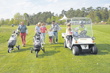 Drieschnitz-Kahsel: Schnuppertag des Lausitzer Golfclubs