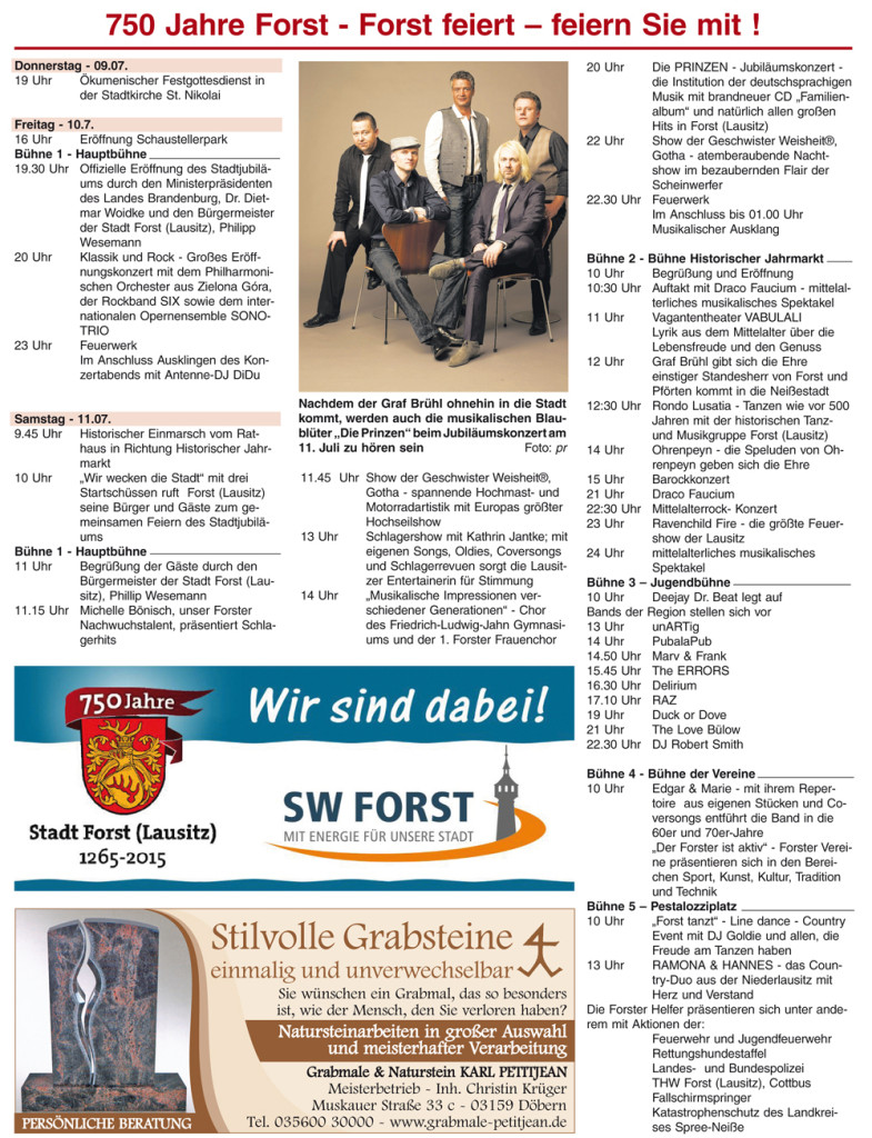 Rosenstadt jubiliert mit großem Festumzug vom 9.-12.7.15