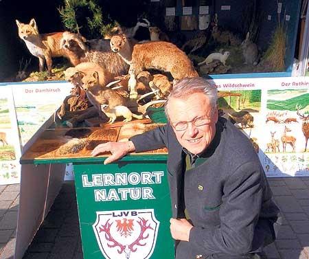 """Sehr gefragt ist der """"Lernort Natur"""" des Kreisjagdverbandes Spree-Neiße/Cottbus. Betreuer Gerhard Dix kommt im Jahr auf rund 40 EinsätzeFoto: T. Richter-Zippack"""