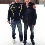 Weißer Schnee, glänzendes Eis und warmes Wasser in Senftenberg