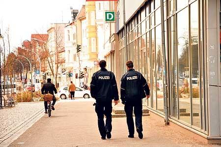 Polizeipräsenz in der Region