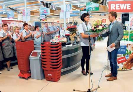 Der neue Forster Rewe-Markt ist offen