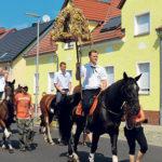 Ströbitz: Kommendes Wochenende, 19.8 - 21.8.2016, Erntefest mit Hahnrupfen, Tanz, Hahnauktion und vielem mehr