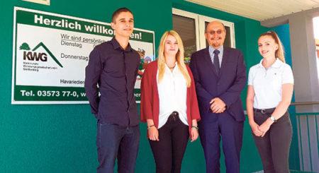 Senftenberg: Drei neue Azubis starten bei KWG und BMA