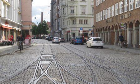 Ungehinderte Fahrt zum Marktplatz ist zur Freude der Händler seit vergangener Woche wieder möglich Foto: Stadt Cottbus