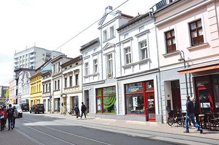 Cottbuser: Friedrich-Ebert-Straße - Service und Genuss in der Stadtmitte
