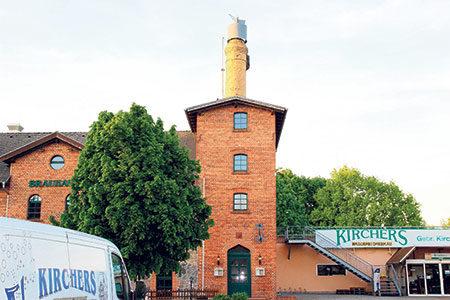Radlerstopp in einzigartiger Brauerei
