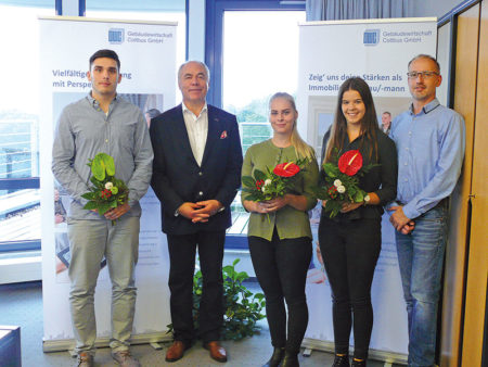 Cottbus: GWC begrüßt drei junge Leute