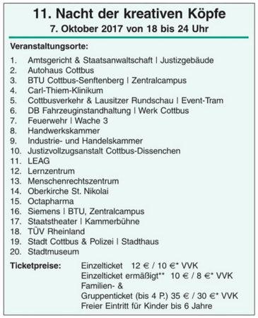 Cottbus: Kreative Köpfe auf Tour