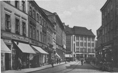 Altes Guben: Die Herrenstraße/Königstraße im Zentrum