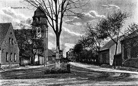 Damals war's Spremberg: Dorfkirche in Proschim