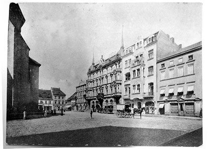 Damals war's Forst: Der alte Forster Marktplatz.