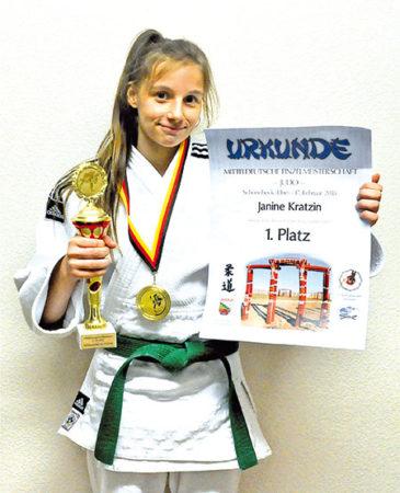 Janine fährt zur Deutschen Judo-Meisterschaft U18