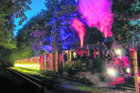 Mit der Parkbahn durch die Cottbuser Nacht am 24.08.18