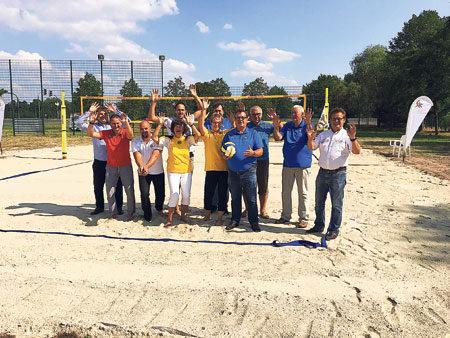 Neue Beachvolleyballanlage in Willmersdorf eingeweiht