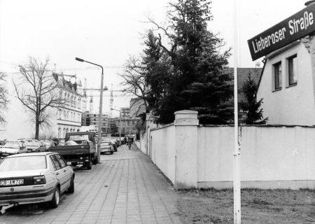 Altes Cottbus: Lieberoser Straße Anfang der 1990-er Jahre