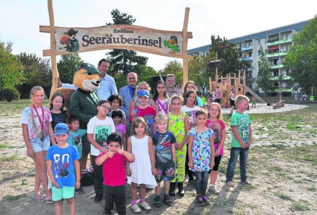 Piraten-Spielplatz in Senftenbergs Zentrum