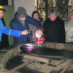 Brunnenfest direkt neben dem Weihnachtsmarkt Corttbus