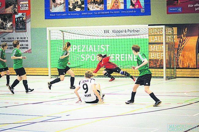 Damenfußballturnier in Großräschen und Großkoschen am 12. und 13.1.19